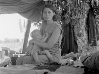 Refugee Mother With Child
