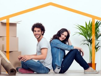 Young Couple At New Home