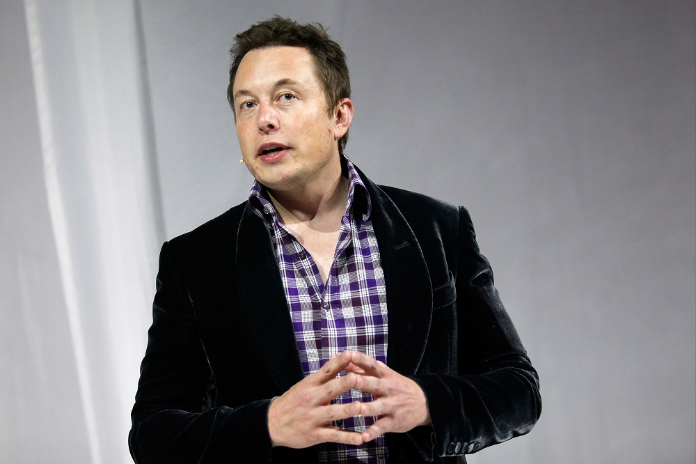 Elon Musk, Founder, CEO and Lead Designer SpaceX, Co-founder and CEO of Tesla Motors, and Co-founder and Chairman of Solarcity.(photo credit:  Patrick T. Fallon/Bloomberg via Getty Images)