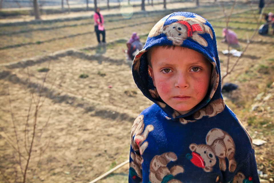 Poor Afghanistan Kid Child Boy Persons Cute